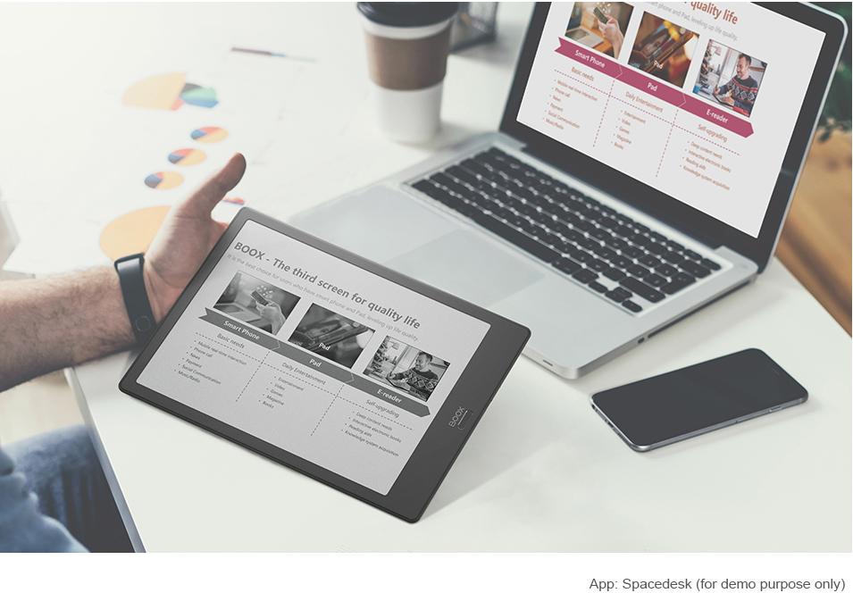 קורא ספרים אלקטרוניים כמסך מחשב